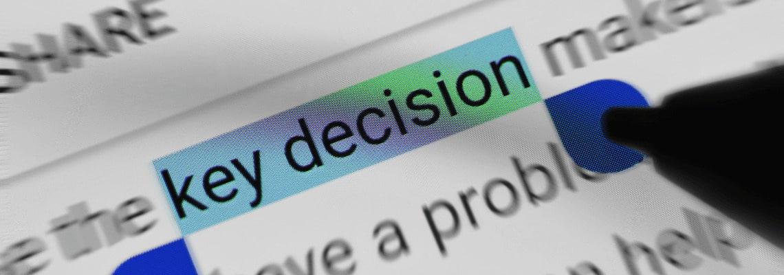 dôležité rozhodnutie